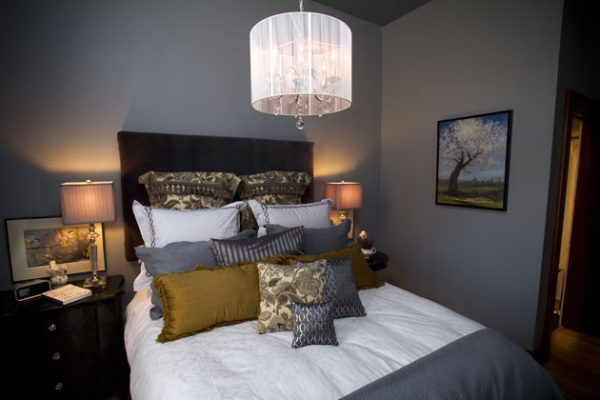 Bedroom in Flat #1 Pied-a-Terre at Third Street Flats in McMinnville, Oregon