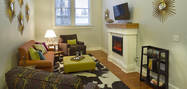 Flat 7 Living and Dining Areas • 3rd Street Flats
