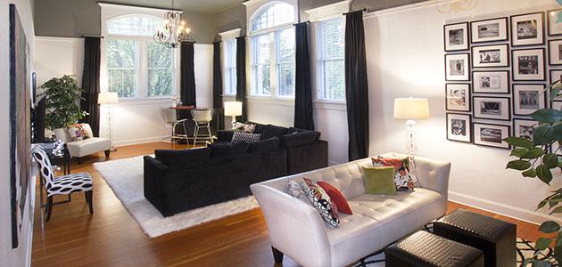 Flat 5 Living Area • 3rd Street Flats