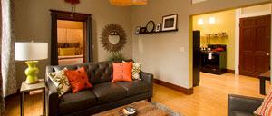 Flat 2 Living Room • 3rd Street Flats