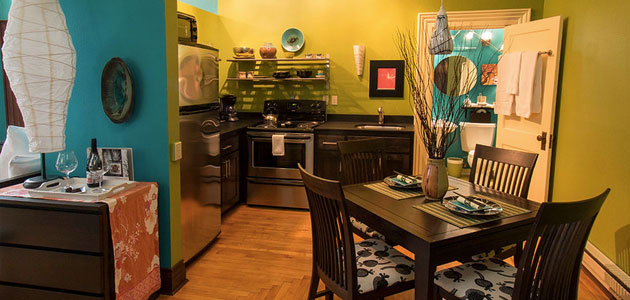 3rd Flat Kitchen and Dining Areas • 3rd Street Flats