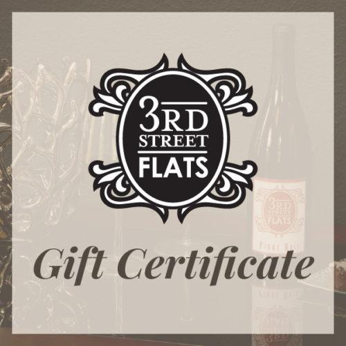 Third Street Flats Gift Certificate